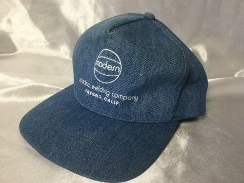 Vintage Denim Modern Welding Co. Cloth SnapBack Hat Cap Made In USA