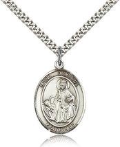 Men's Bliss Sterling Silver Patron Saint Dymphna Medal Pendant Necklace  7032SS/ - $52.00