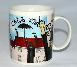 Chaleur It's a Cat and Dog's Life * MUG CUP * Broussard, Raining Cats Do... - $26.99