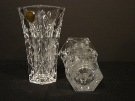 Two Matching 5 Inch Crystal d' Arques-Durand Sully Pattern Bud Vases image 6