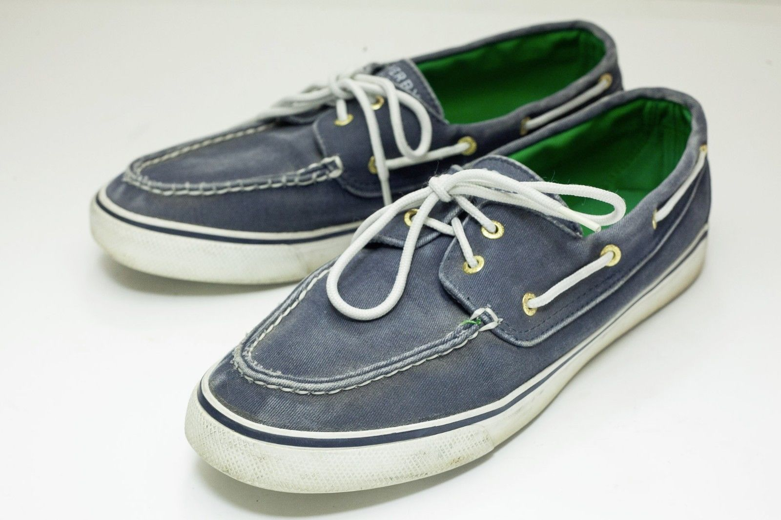 8ebf42a4c58e Sperry Topsider 10 Blue Canvas Boat Shoes and 50 similar items