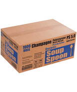 Daxwell A10000870 Heavy Weight Polystyrene Soup Spoons, Champagne, 5.5″ ... - $34.25