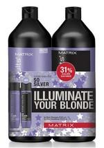 Matrix Total Results So Silver Purple Shampoo and Conditioner 33.8 oz Li... - $36.45