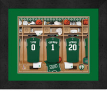 Personalized Boston Celtics 12 x 16 Locker Room Framed Print - $63.95
