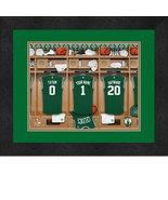 Personalized Boston Celtics 12 x 16 Locker Room Framed Print - $63.95