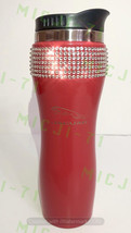 Jaguar (Red) Stainless Steel Thermal Bling Mug Tumbler Cup Travel 14oz Made with - $29.99