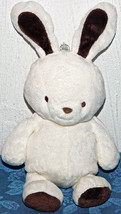 Carters Just One Year Super Soft White Plush Bunny Brown Ears Stuffed An... - $119.20