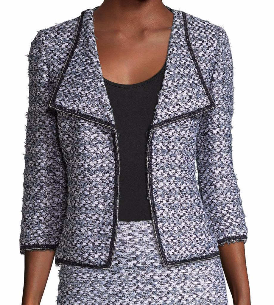 New with Tag - $1,695 St. John Nala Navy Multi Sequin / Tweed Jacket Size 4