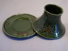 Yankee Candle Pinecone Denbi Jar Shade with Matching Underplate HTF - $48.51