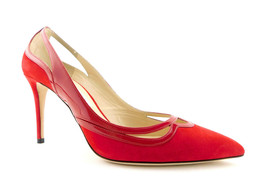 JIMMY CHOO Size 10 HICKORY Red Suede pointed Heels Pumps Shoes 41 - $359.00