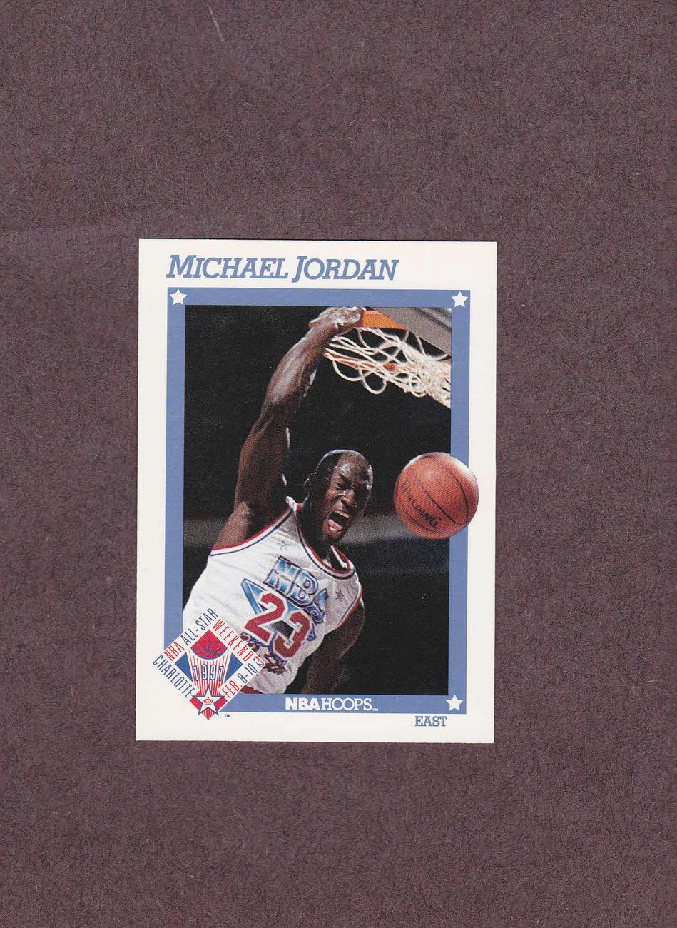1991-92 Hoops # 253 Michael Jordan Chicago Bulls NM