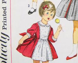 Simplicity 3759 Vintage1950s Pattern Girls  size 2 Bodice Dress w Full S... - $12.95