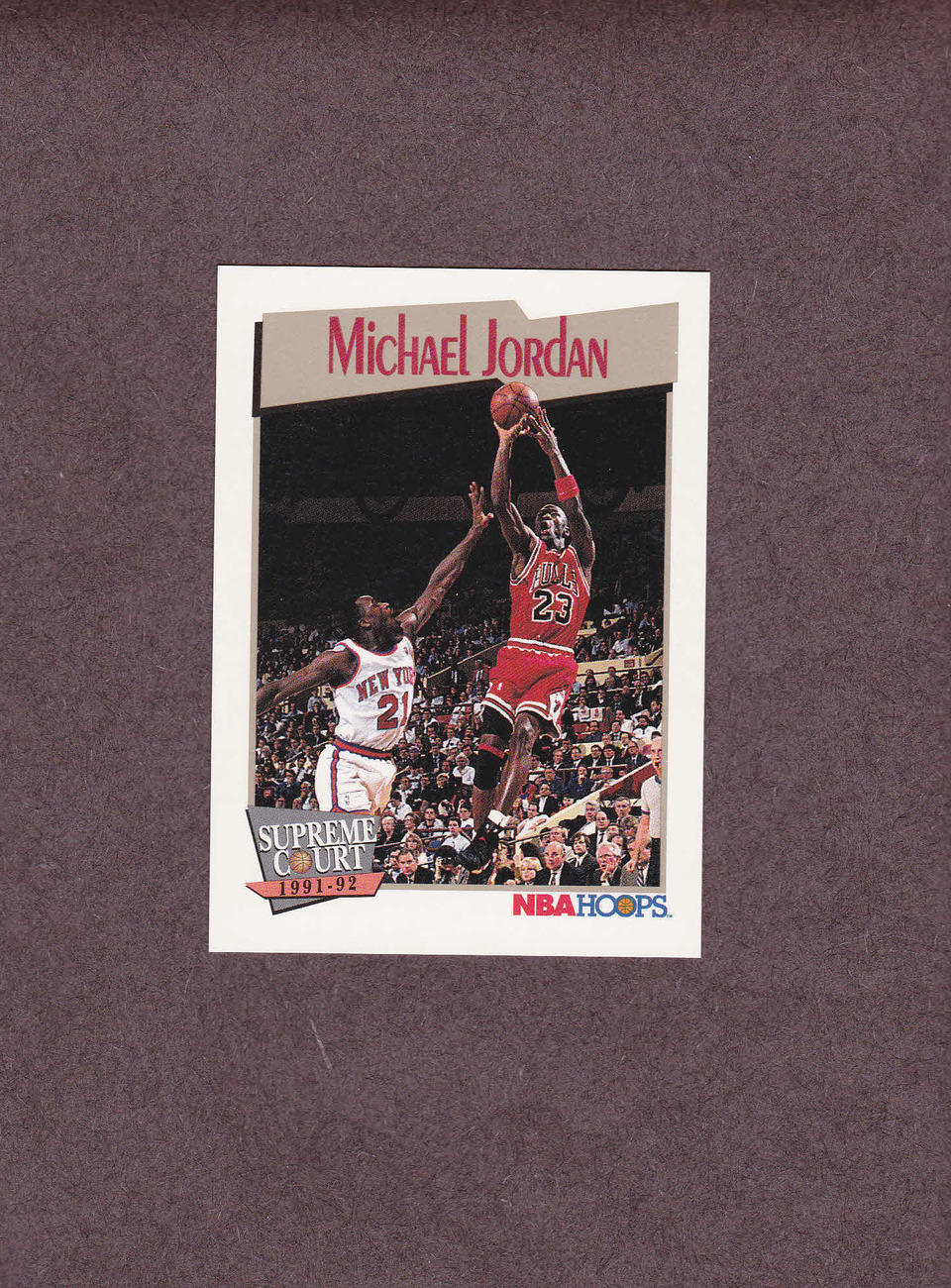 1991-92 Hoops # 455 Michael Jordan Chicago Bulls NM