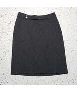 Worthington Women's Dressy Skirt ~ Sz 4 ~ Dark Gray ~ Lined ~ Knee Length - $24.74