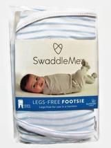Swaddle Me Legs Free Footsie Swaddling Blanket Summer Infant Blue Stripe... - $16.44