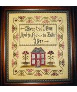 Bless This Home cross stitch chart Abby Rose Designs - $9.00