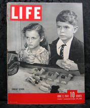 Life Magazine June 2, 1941 Volume 10 No. 22 Sunday School - $9.99