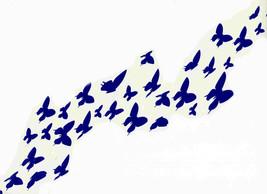 30 mixed individual blue butterflies decal ideal cars, trucks, home etc