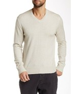 $295 JAMES PERSE Los Angeles V-Neck MGM3834 Sweater Linen ( 4 / XL ) - $129.97