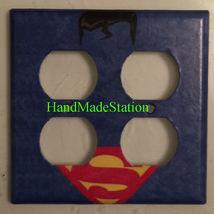 Superman comics Logo Light Switch Duplex Outlet Cover Plate Home decor image 3