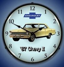 New 1967 Chevrolet Super Nova 2 car LIGHTED clock Free Ship Warranty + U... - $129.95
