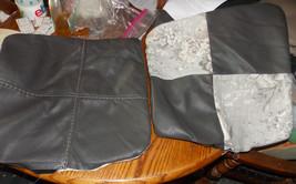 Pair of Gray Patchwork Flower Print Decorative Print Throw Pillows  18 x 18 - $49.95
