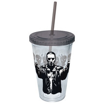 Marvel Comics The Punisher Drawn Guns 16 oz. Acrylic Travel Cup,  NEW UN... - $7.84