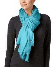 Calvin Klein Oversized Cashmere Modal Scarf (Blue) - $20.79