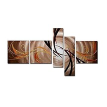 Wieco Art Abstract 100% Hand Painted Oil Paintings on Canvas Wall Art Re... - $77.80