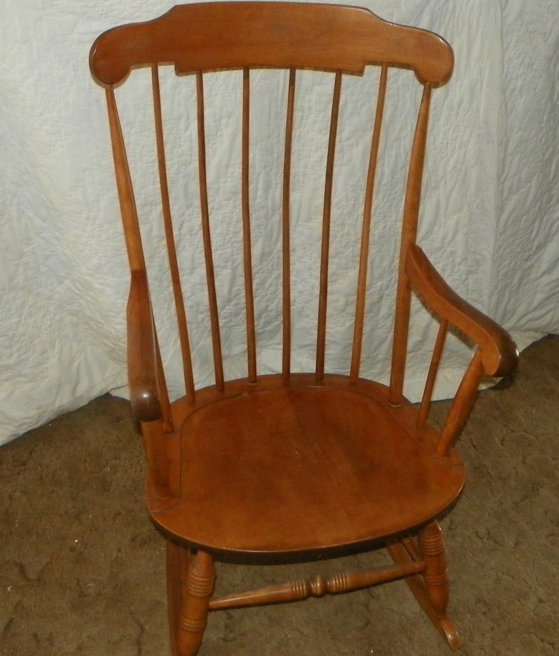 Maple Nichols and Stone Rocker Rocking Chair - Post-1950