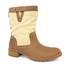 Timberland Women's Wenham Leather & Fabric Tan Brown Mid Boots Style A18ZA - $1.384,12 MXN