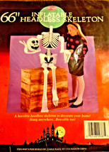 "66"" inch tall inflatable headless skeleton halloween decoration fun for ... - $16.82"
