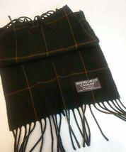 Geoffrey Beene Mens 3 Ties + CashMe Green Plaid Acrylic Scarf Handmade Silk Tie image 4