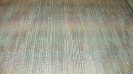 Mauve Turqouise White Stripe Nylon Upholstery Fabric 1 1/2 Yard  F688 - $19.95