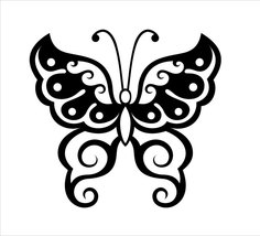 Butterfly vinyl sticker - many colours to choose from - $3.50