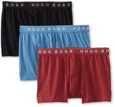 Hugo Boss Men's 3 Pack Sport Premium Cotton Boxer Shorts Trunks 50236732