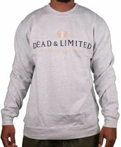 Deadline Grey Dead & Limited Champagne Men's Crew Neck Sweatshirt Sweater NWT image 1