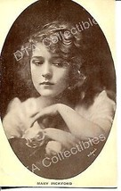 Mary Pickford-Portrait-1920-Kraus Mfg Arcade Card G - $48.89