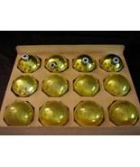 Vintage Shiny Brite Yellow Christmas Ornaments ... - $36.00