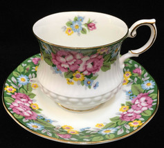 Tea Cup & Saucer Rosina Queens Oxford Fine Bone China Porcelain Pink Floral - $14.84