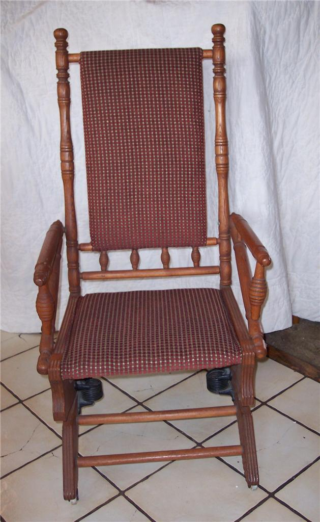 Oak Eastlake Rug Rocker Rocking Chair