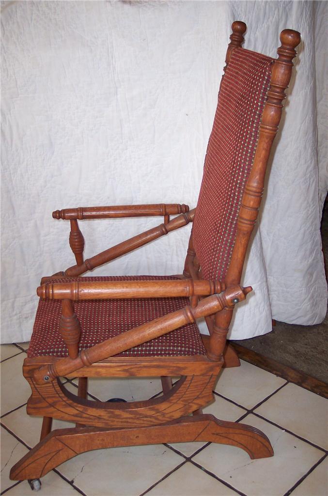 Oak Eastlake Rug Rocker Rocking Chair - Post-1950