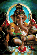 Ganesh #5. Cross Stitch Pattern. PDF Files. - $9.99