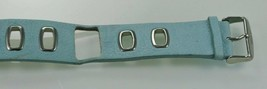 Fossil Womens Stainless Silver Blue Leather Replacement Watch Band 30mm - $14.26