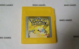Pokemon Yellow Version Game  AUTHENTIC NINTENDO NEW SAVE BATTERY SOLDERE... - $36.45