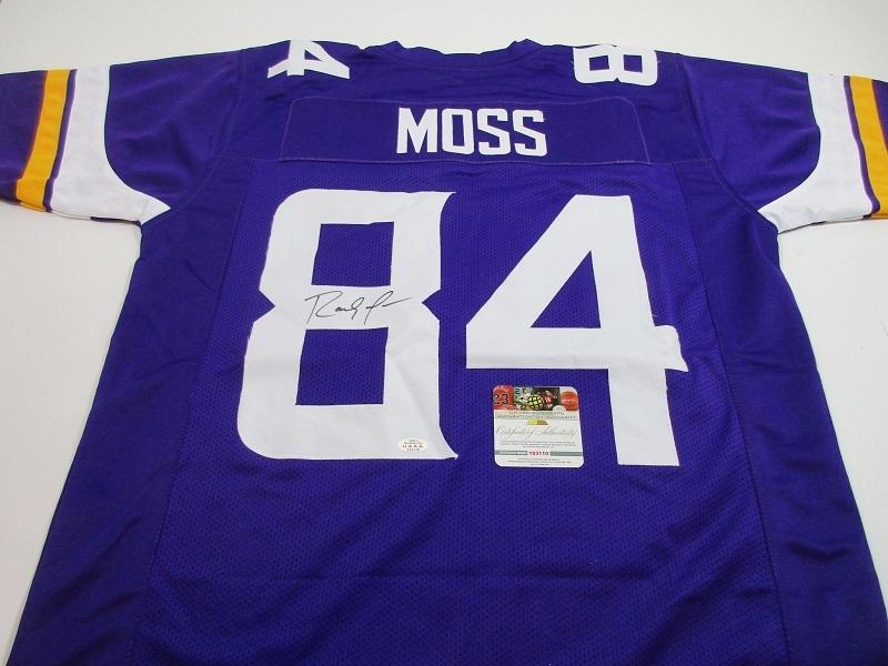 pretty nice 470b2 a0011 RANDY MOSS - NFL HALL OF FAME - HAND SIGNED VIKINGS CUSTOM FOOTBALL JERSEY  - COA