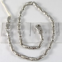 White Gold Bracelet 750 18K, Ovals Cloud, Satin and Alternating, 21 CM - $654.92