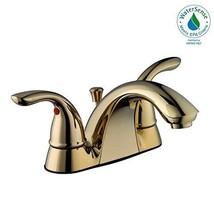 Glacier Bay Builders 4 in. Centerset 2-Handle Low-Arc Bathroom Faucet in Polishe - $95.06