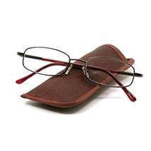 Foster Grant Nash Men's Brown Metal Reading Glasses with Case +2.50 - $9.99
