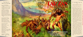 Edgar Rice Burroughs TARZAN AT THE EARTH'S CORE fac. jacket for 1st Gros... - $21.56